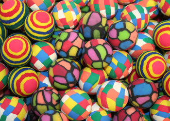 Brick Block And Color Stripe Bouncy Balls Superball Refill