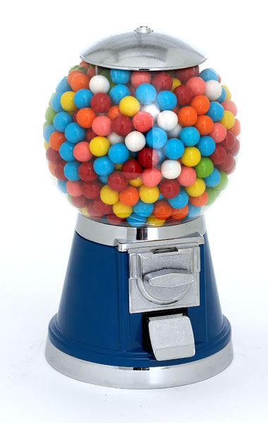 plastic bubble gum machine